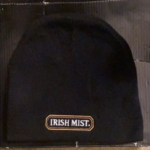 Irish Mist winter beanie black with logo.
